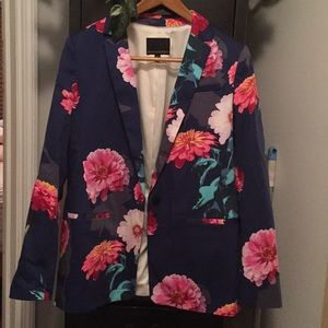 Blue flower blazer size 10